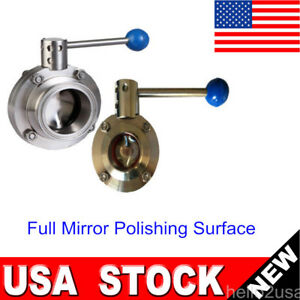 Sale 1 5 304 Sanitary Stainless Steel Butterfly Valve Tri clamp Pull Handle Us
