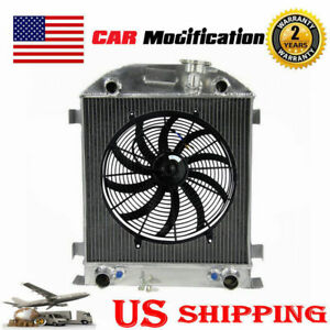 3 Row Aluminum Radiator 16 Fan For 28 29 Ford Model A Flathead Engine Classical