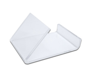 10 Clear Acrylic Flat Item Easel Display Stand Vertical Business Card Holders