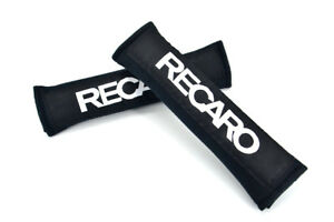 New 2pcs Recaro Black Car Seat Belt Cover Pads Shoulder Cushion For Honda
