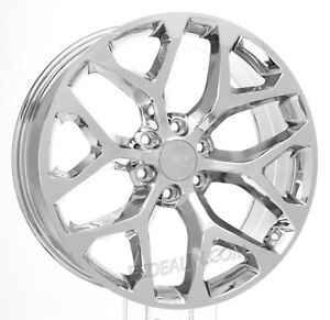 Chrome 22 Snowflake Wheels Rims For Chevy Silverado Suburban Tahoe Ck156