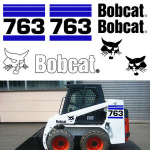 Bobcat 763 V2 Skid Steer Set Vinyl Decal Sticker Bob Cat Made In Usa