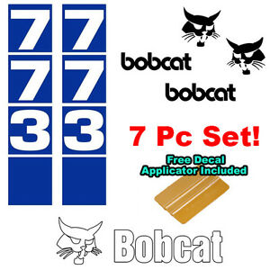 Bobcat 773 Skid Steer Set Vinyl Decal Sticker Bob Cat Made In Usa Free Tool
