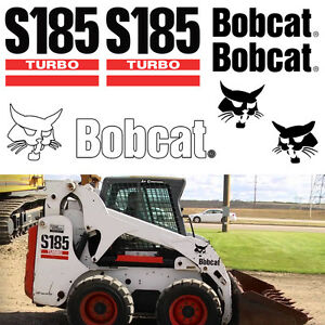 Bobcat S185 Turbo Skid Steer Set Vinyl Replacement Decal Sticker Applicator