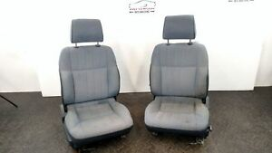 1987 Nissan Pickup Set Of Left Right Front Cloth Bucket Seats Blue