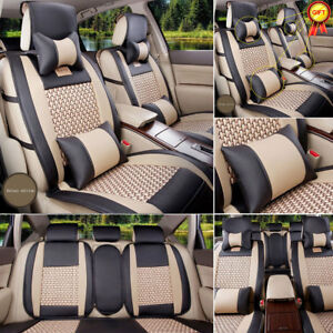Us For Toyota Corolla 2007 2018 Pu Leather Seat Covers Front rear free Pillows