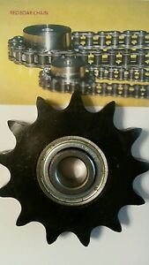 35bb18h 1 2 Bore Idler Sprocket 18 Tooth W bearing 203krr5 For 35 Roller Chain