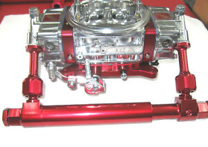 Telescopic Adjustable Billet Fuel Log Holley 4150 4500 Dom Show Polished Red