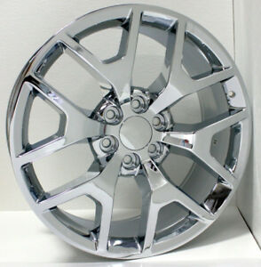 20 Honeycomb Chrome Wheels Rims For 2000 2018 Chevy Silverado Tahoe Suburban