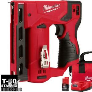 Milwaukee 2447 21 M12 3 8 Cordless Crown Stapler Kit New