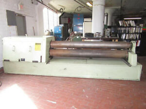Montgomery Hydraulic Double Pinch Power Roll 3 8 X 8 Plate Bending Roller