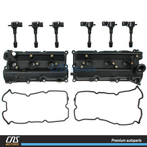 Valve Cover Gasket Ignition Coils For 03 08 Infiniti Fx35 G35 M35 Nissan 350z