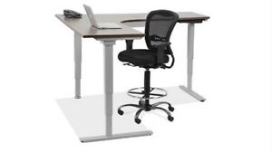 Radiused Corner L shape Electric Height Adjustable Desk
