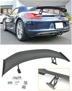 For 13 16 Porsche 981 Boxster Gt4 Style Abs Plastic Rear Trunk Wing Spoiler