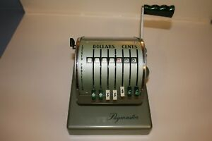 Vintage Paymaster Series X 900 Check Writer Green