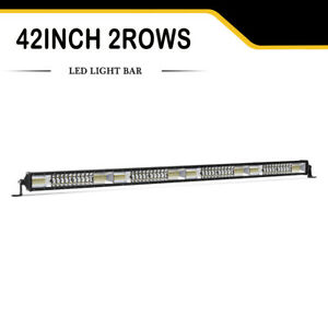 Dual Color 42in 960w Amber white Led Work Light Bar Driving Offroad Strobe Lamp