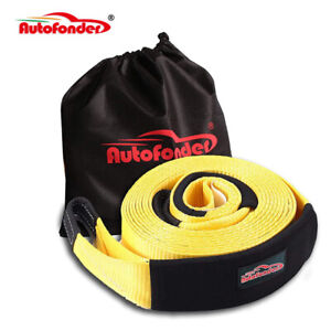 30ft 3 30000lbs Snatch Strap Recovery Tow Strap Winch Extension 4wd Heavy Duty