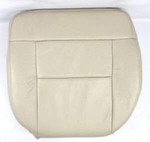 2004 Ford F150 Lariat Front Driver Leather Or Vinyl Bottom Seat Cover Light Tan