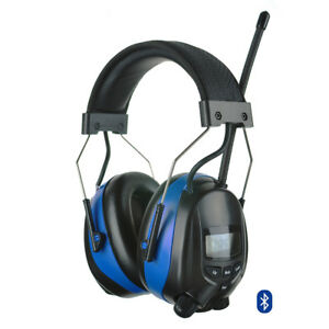 Bluetooth Ear Muffs Hearing Protection Headset Am fm Radio Headphones For Mowing
