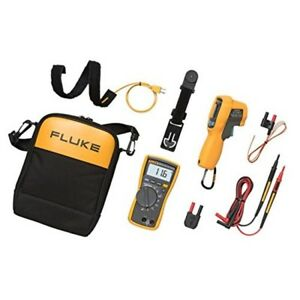 Hvac Digital Multimeter Clamp Meter Max Plus Kit Dust Water Resistance Fluke New