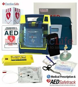 Cardiac Science Powerheart G3 Plus Automatic 9390a And Alarmed Aed Cabinet