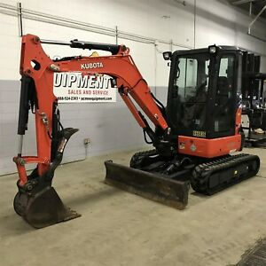 2013 Kubota U35 Used Mini Excavator Cab Heat A c Thumb Low Hours Bucket