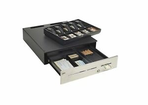Mmf Advantage Cash Drawer With Kwik Kable 18 X 20 Inches Black adv113c113100