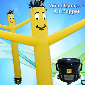 15 Yellow Wind Dancer Air Puppet Sky Wavy Man Dancing Inflatable Tube Blower