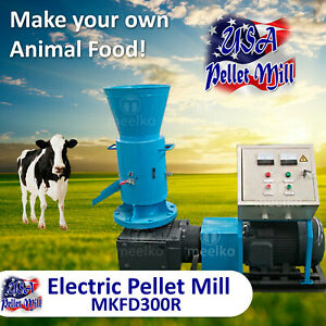 Electric Rotating Roller Pellet Mill For Cow s Food Mkfd300r