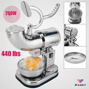 Commercial Electric 440lbs Snow Cone Ice Shaver Maker Machine Ice Crusher Eo