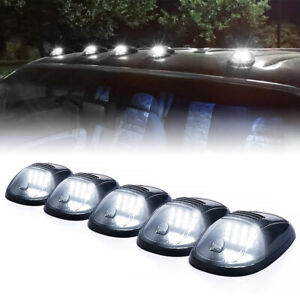 Smoked Led Top Roof Truck Cab Marker Running Clearance Strobe Lights Set Kit 5pc