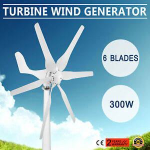 Wind Turbine Generator 300w Dc12v Electricity Powerful Steadily Factory Direct
