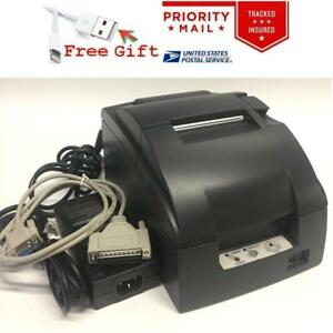 Epson Tm u220b 653 Pos Receipt Printer C31c514653 M188b Power Supply Serial