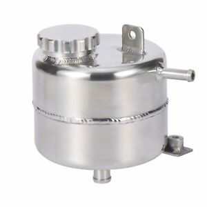 Aluminum Radiator Water Coolant Expansion Overflow Tank W Billet Cap Polished