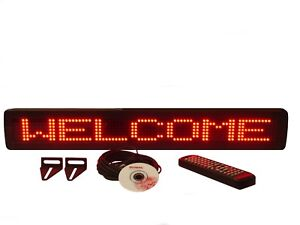 New Red Led Programmable Scrolling Message Display Sign Indoor 26 x4