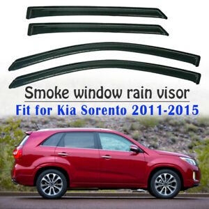 Smoke Window Sun Vent Visor Rain Guards For Kia Sorento 2011 2012 2013 2014 2015