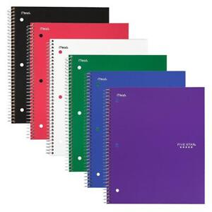 Five Star Spiral Notebooks 1 Subject College Ruled Paper 100 Sheets 11