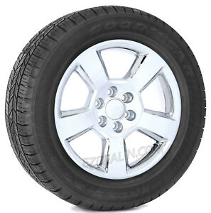 Chevrolet Silverado Z71 Tahoe 20 Chrome Wheels Goodyear Tires Ltz Style Rims