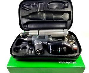 Welch Allyn 3 5v Diagnostic Set 23820 Macroview Otoscope 11720 Ophthalmoscope