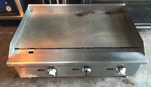 Black Diamond 36 Commercial Counter Top Gas Griddle
