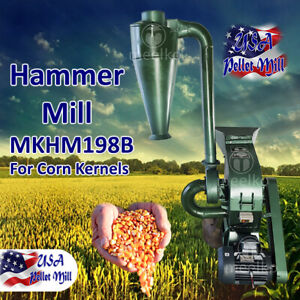 Electric Hammer Mill For Corn Kernels Mkhm198b