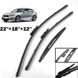 22 18 12 Front Rear Windshield Wiper Blades Fit For Bmw 1 Series F20 F21 12 17