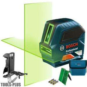 Bosch Gll 100 Gx rt Recon Self leveling Green beam Cross line Laser