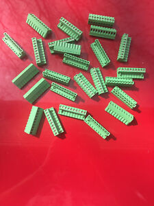 Terminal Block Phoenix Contact 10 Position Connector 2 5 5 08 250v 10amp 100pcs