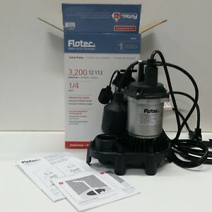Flotec Submersible Thermoplastic Sump Pump 1 4 Hp fpzs25t A18
