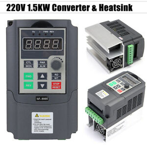 220v 1 5kw 2hp Single Phase Input To 3 Phase Output Frequency Converter Vfd Vsd