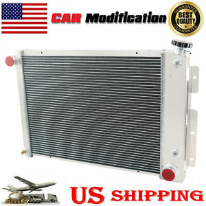 3 Row Aluminum Radiator For 1967 68 69 Chevy Camaro Pontiac Firebird Big Block