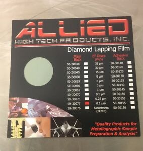 Allied High Tech Products 50 30075 Diamond Lapping Film
