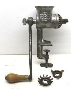 Universal No 1 Meat Grinder Food Chopper New Britain Usa L F O 2 Blades