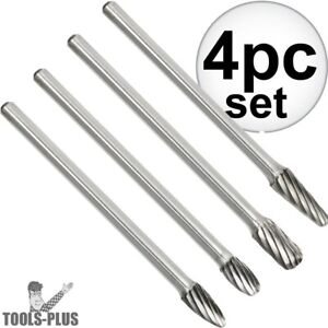Astro Pneumatic 2187 4pc Long Carbide Burr Set Non Ferrous Aluminum Copper New